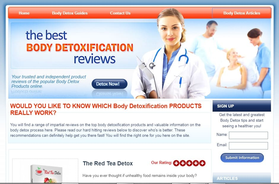 Cbproads affiliate niche body detoxification products